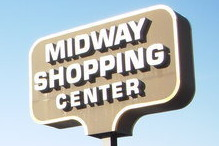 Midway Shopping Center Sign